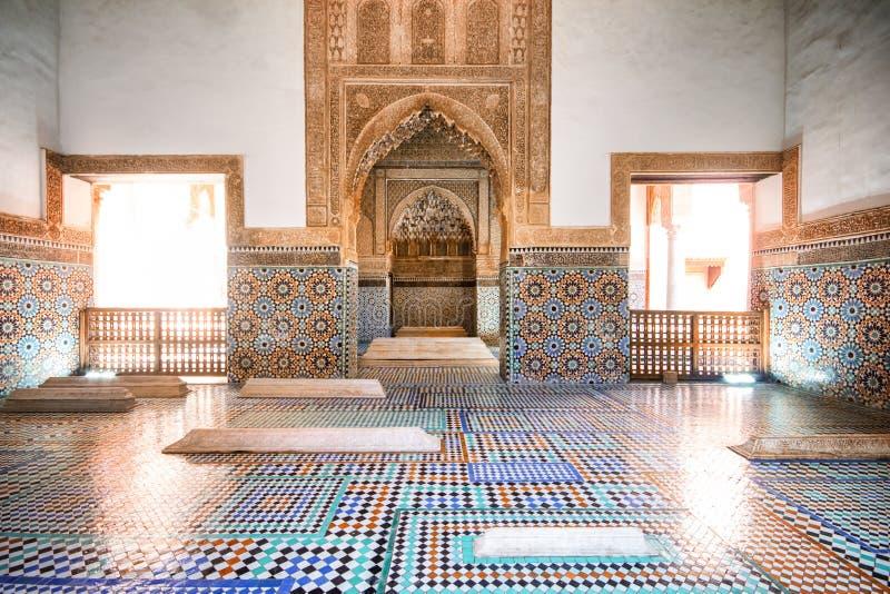 Saadian grobowowie, Marrakech, Marocco zdjęcie royalty free