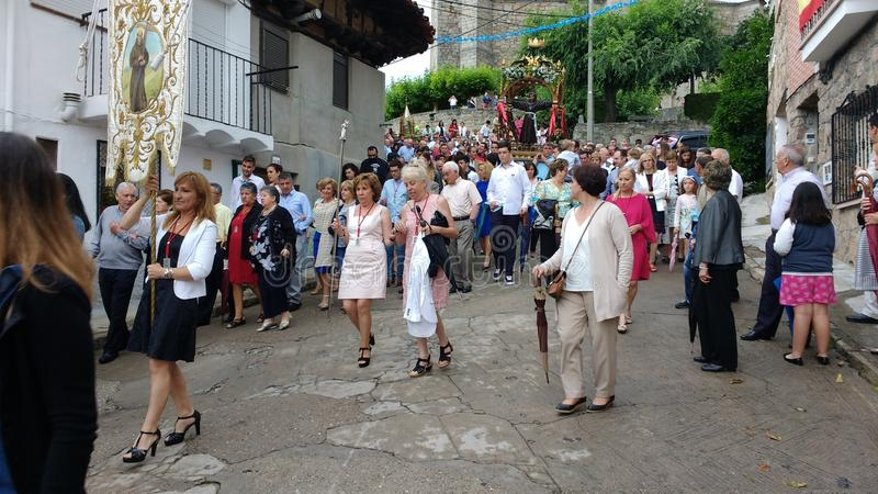 Saaint Pedro Bautista Procession in San Esteban Spain immagini stock