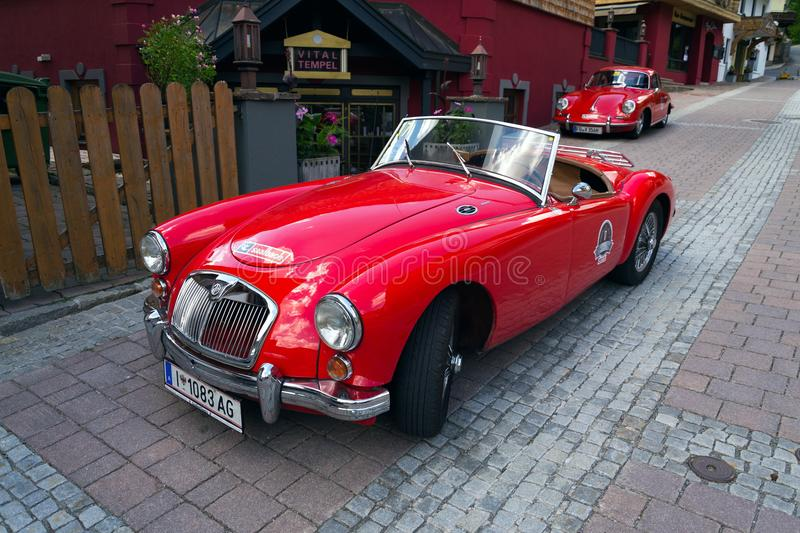Vintage car MG MGA 1600 roadster oldsmobile veteran stock images