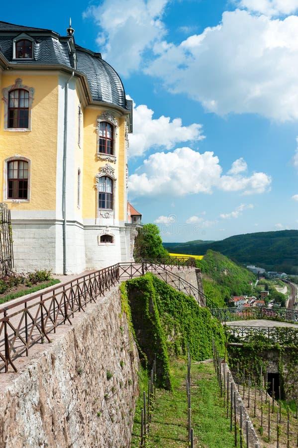 Saale rzeczny widok w Środkowym Niemcy zdjęcie royalty free