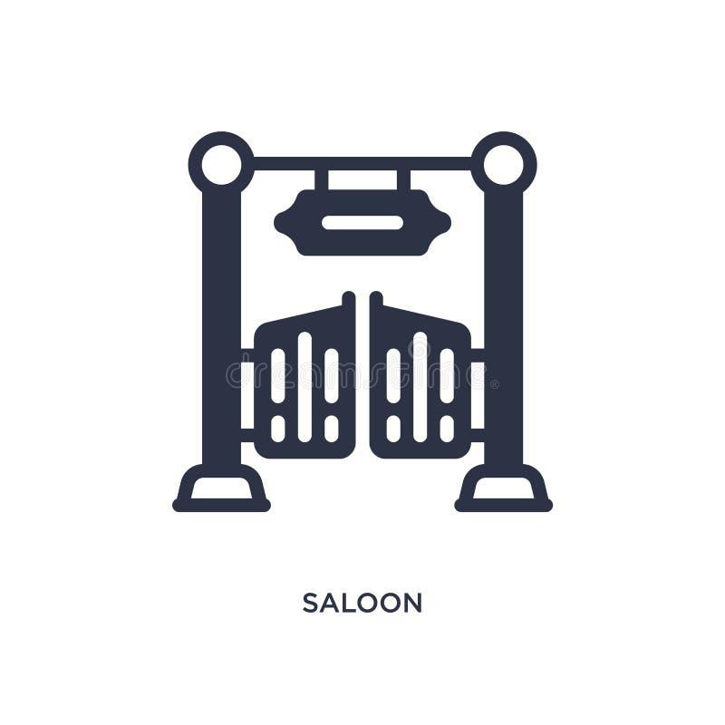 Saalikone auf weißem Hintergrund Einfache Elementillustration vom wilden Westkonzept lizenzfreie abbildung
