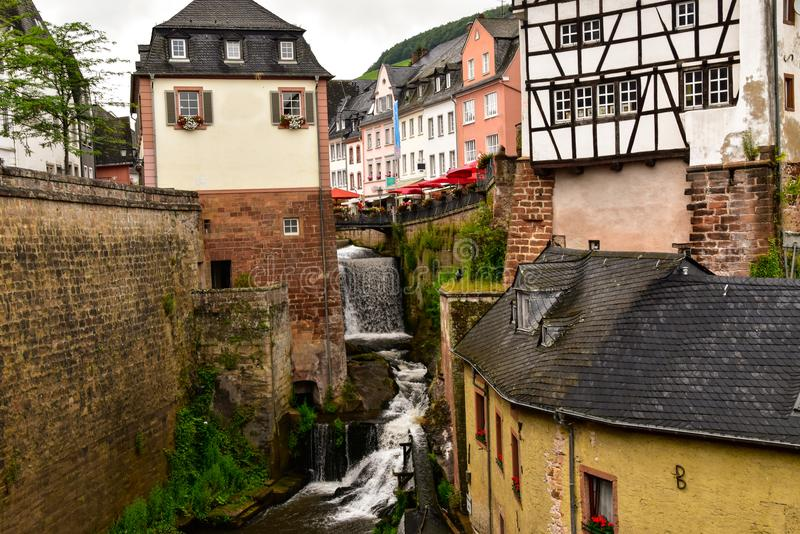 Saarburg city on the Moselle stock photography