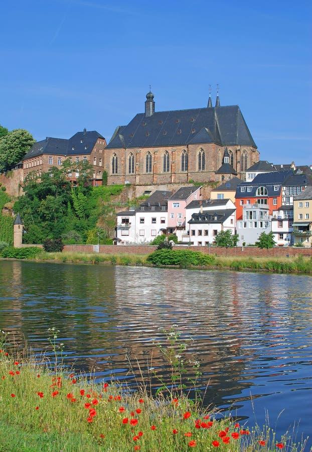 Saarburg, Fluss Saar, Deutschland Stockbilder