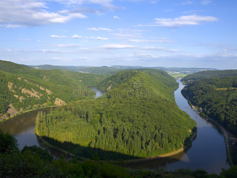 Download Saarschleife - river Saar stock image. Image of natural - 21020791