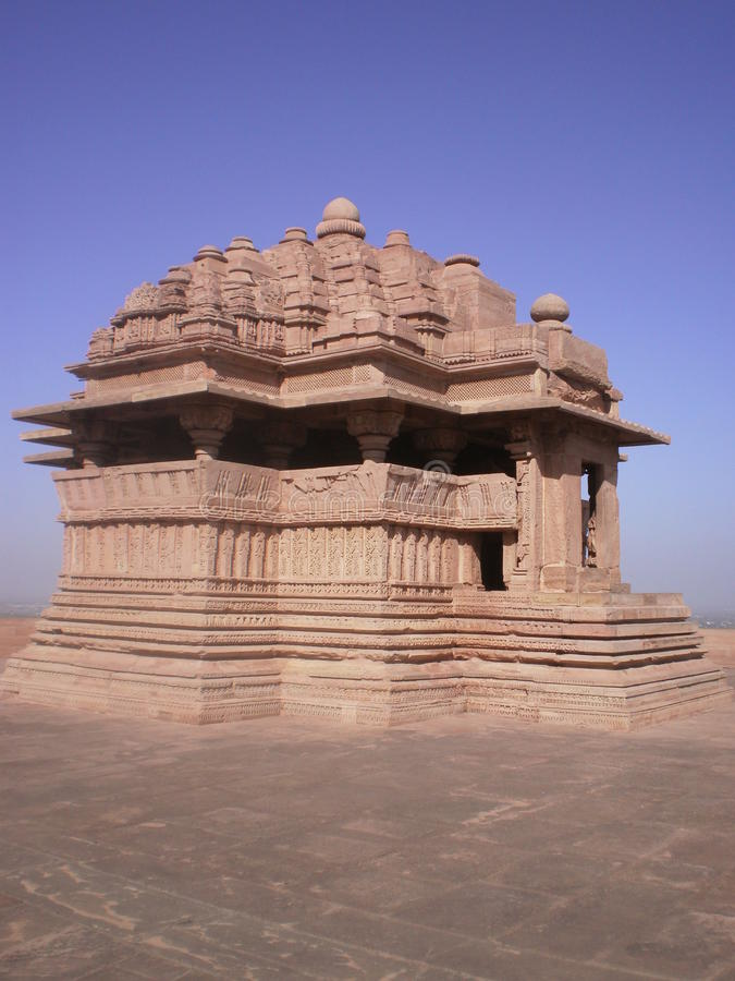 Saas bahu寺庙(Sahastrabahu寺庙) 免版税库存照片
