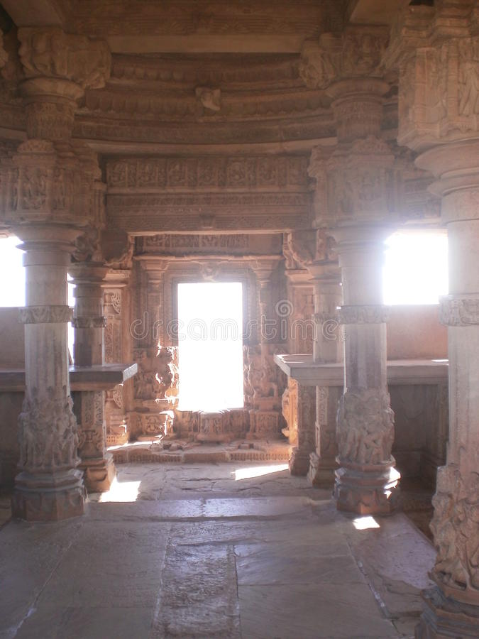Saas bahu temple (Sahastrabahu temple) royalty free stock images