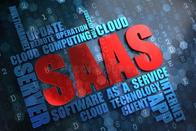 SAAS.  Conceito de Wordcloud. imagens de stock royalty free