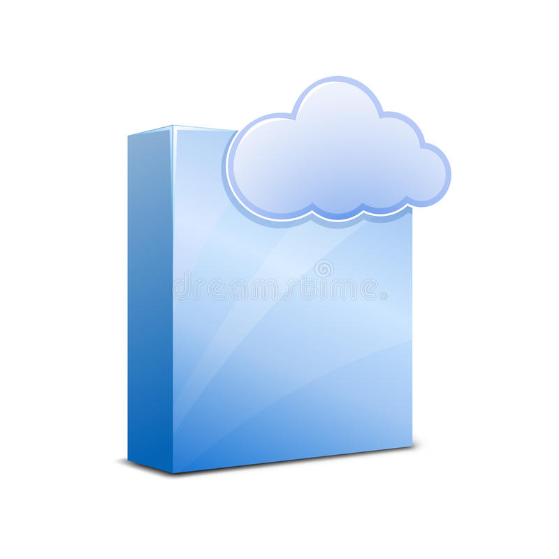 Saas Icon Blue Vector Illustration Stock Vector Illustration Of