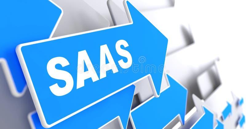SAAS.  Informatietechnologie Concept. royalty-vrije illustratie