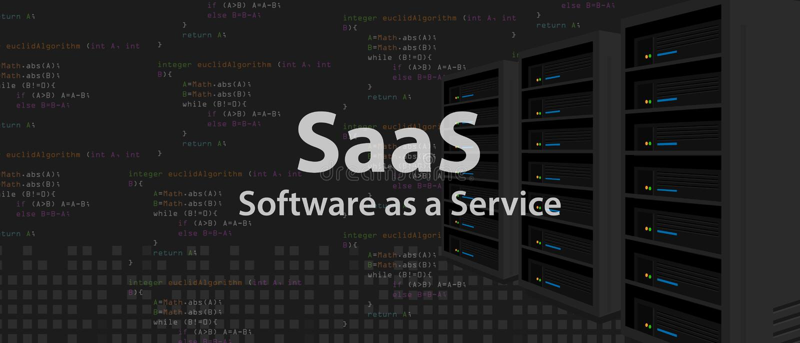 SaaS oprogramowanie jako usługowa kod linia programowanie interneta zastosowanie ilustracji