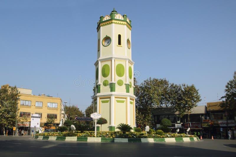 The Saat Square in Sari city, Iran stock photography