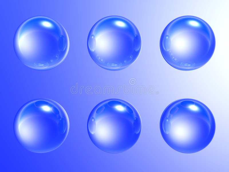 Sabão-bolhas azuis ilustração stock