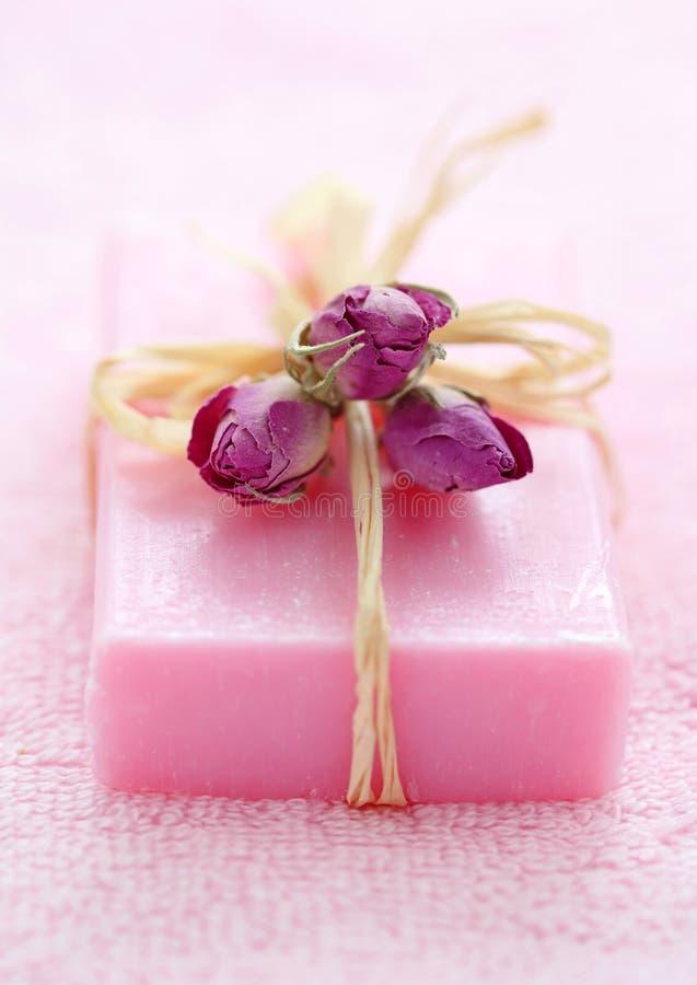 Sabão cor-de-rosa imagem de stock