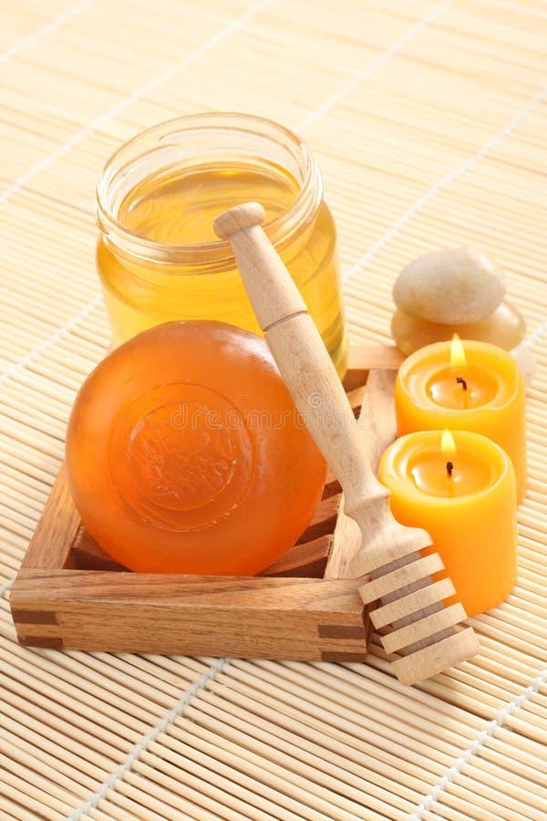 Sabão do mel foto de stock