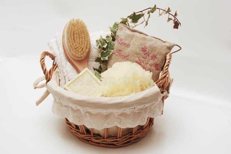 Sabão do wellness de toalhas dos TERMAS imagens de stock royalty free