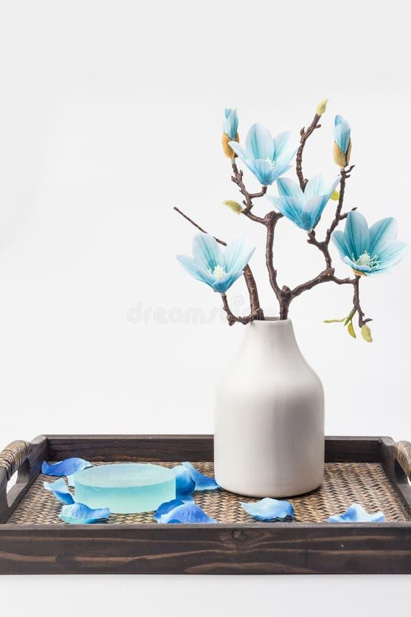 Sabão e magnólia azul imagens de stock royalty free