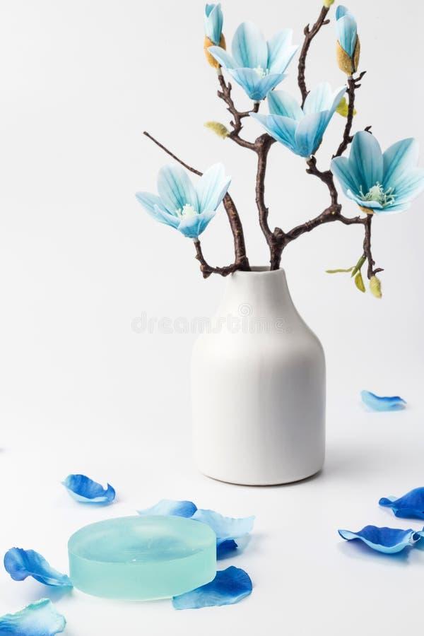 Sabão e magnólia azul imagens de stock
