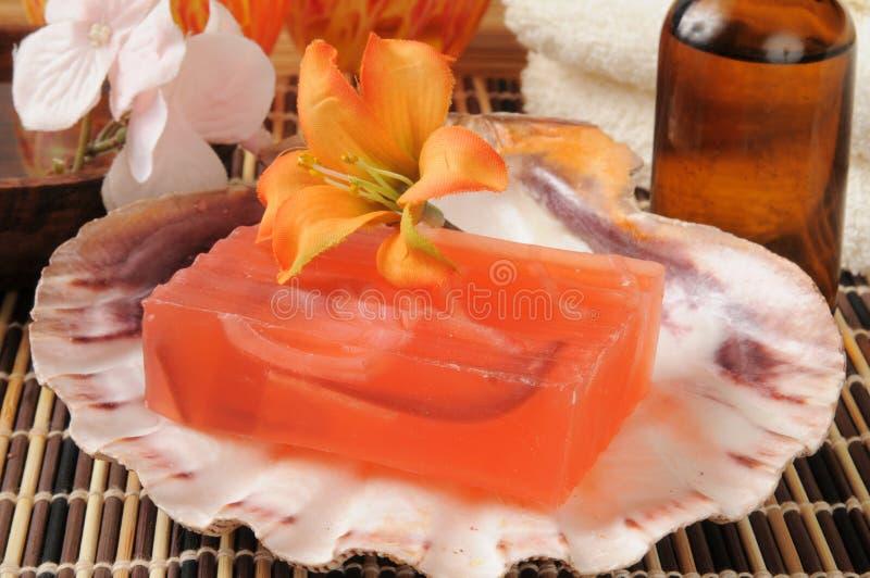 Sabão luxuoso da glicerina fotografia de stock