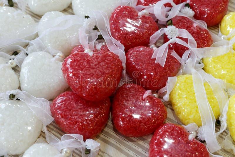 sabão perfumado Coração-dado forma foto de stock