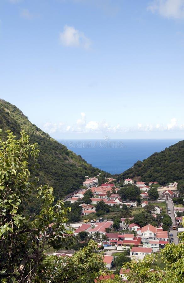 Saba Antilles néerlandaises hollandaises photographie stock libre de droits