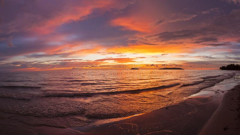 Sabah sunset. Sabah is known as one of the three most beautiful sunsets in the world, and Tanjung Aru Beach is also known as the best place to enjoy the sunset