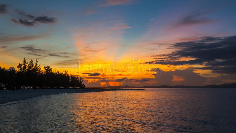 Sabah Mermaid Island. Mantanani Island is nicknamed Mermaid Island. It is a 30-minute ferry ride from Kota Kinabalu. It consists of three outlying islands. It is stock photos