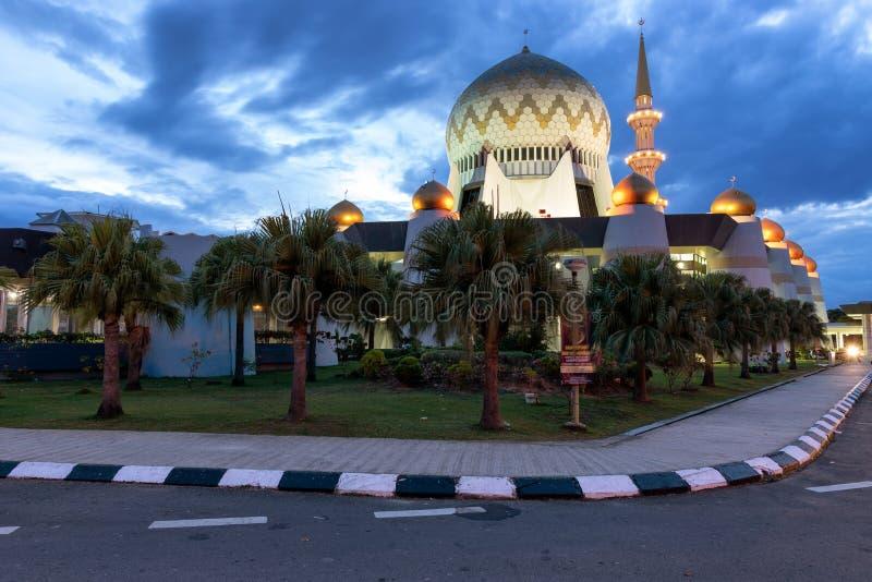 Sabah State Mosque em Kota Kinabalu Borneo imagens de stock royalty free
