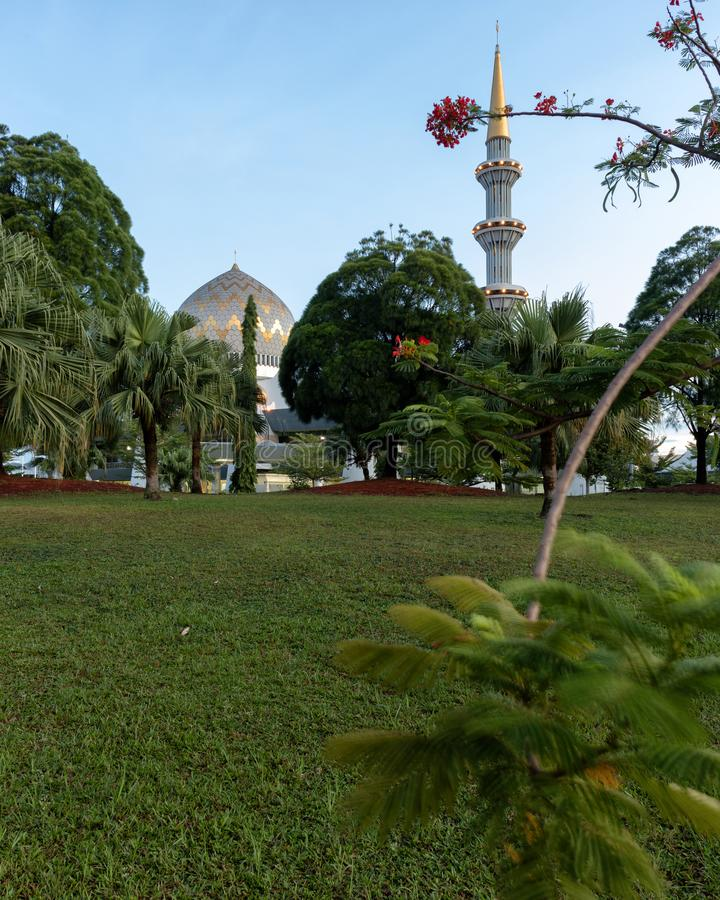 Sabah State Mosque Fairy Tale fotografie stock