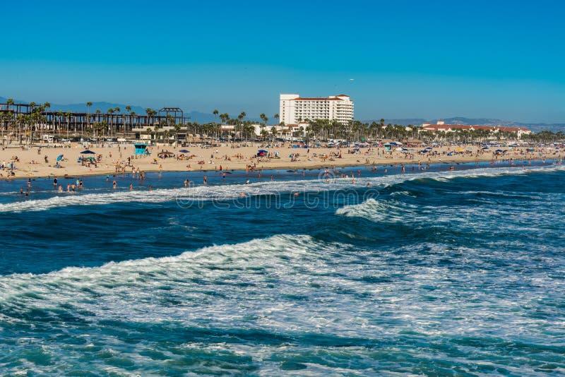 Sabato alla spiaggia immagini stock libere da diritti