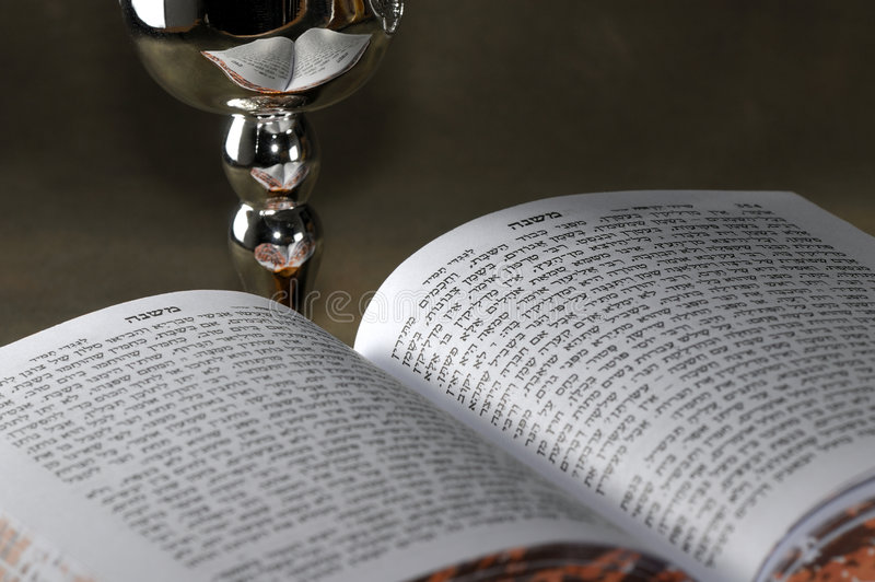 Sabbath. Jewish Bible and Silver WIne Cup - Sabbath Related royalty free stock photos