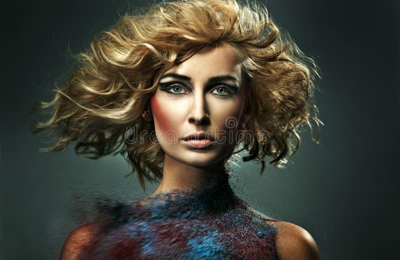 Sabbia colorata fotografia stock libera da diritti