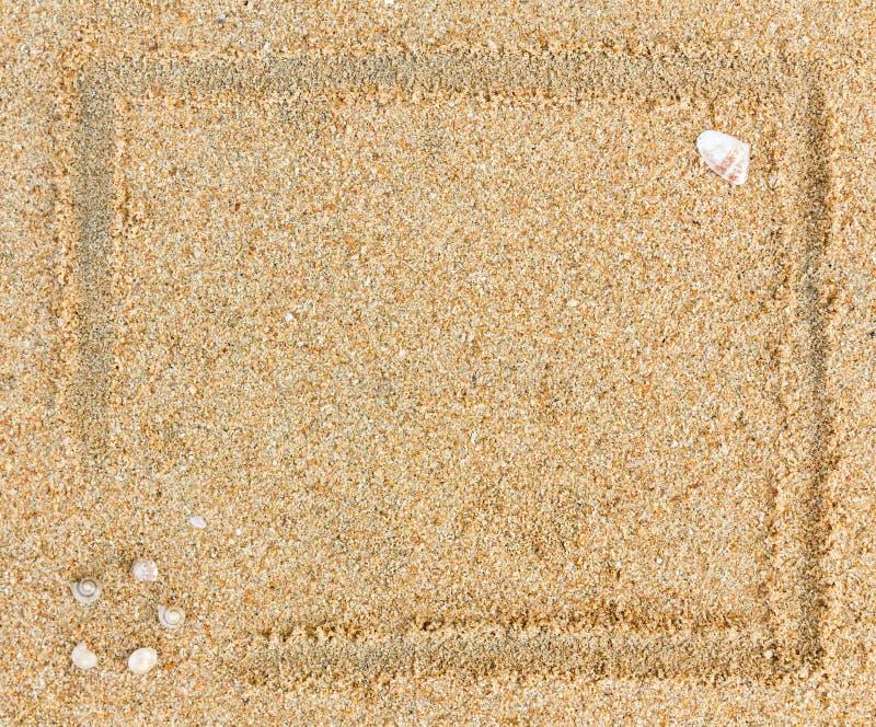 Sabbia del bordo come priorità bassa fotografie stock