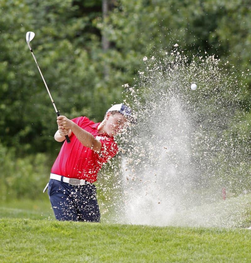 Sabbia del carbonile del Blair Bursey di golf immagine stock libera da diritti