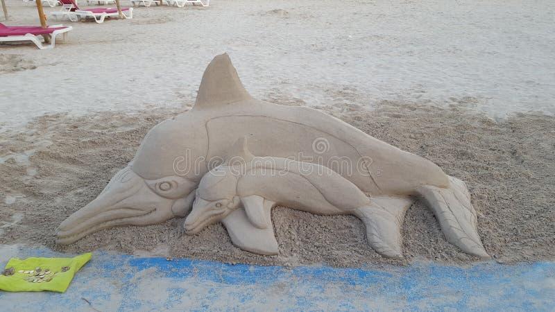 Sabbia Delfin fotografia stock