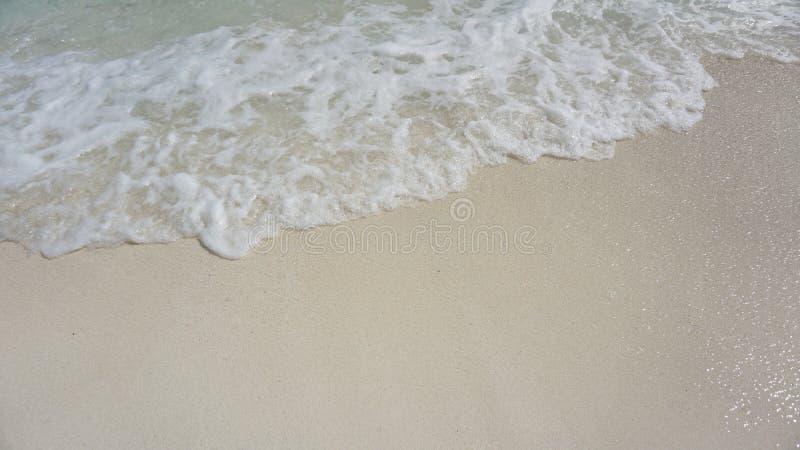 Sabbia e mare delle Maldive fotografia stock