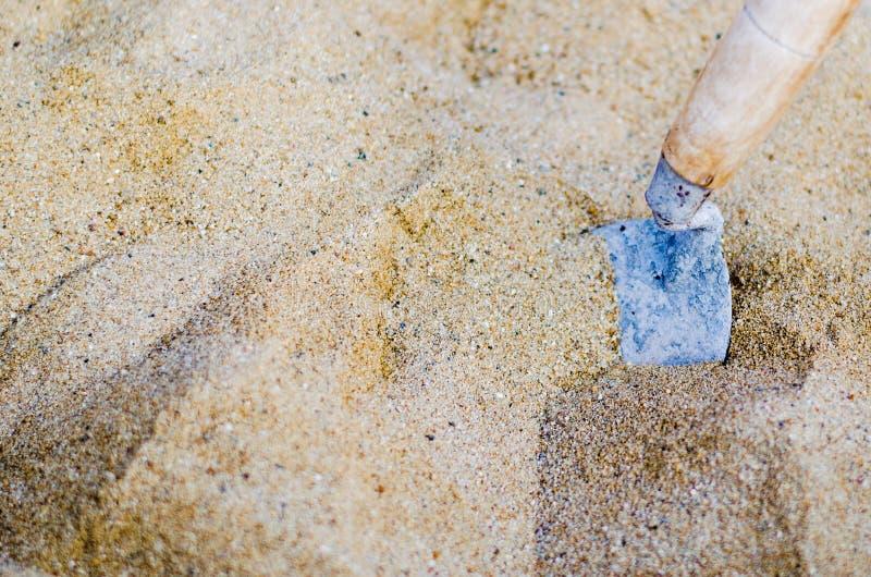 Sabbia e muratore Tool fotografie stock