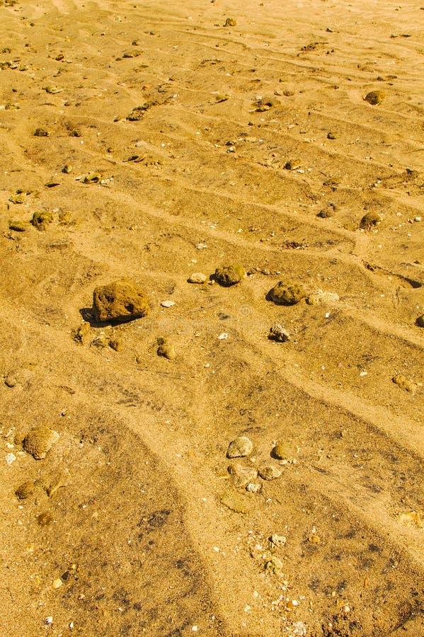 Sabbia e pietra fotografia stock