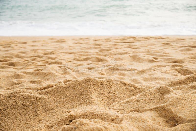 Sabbia sulla spiaggia del mare fotografia stock
