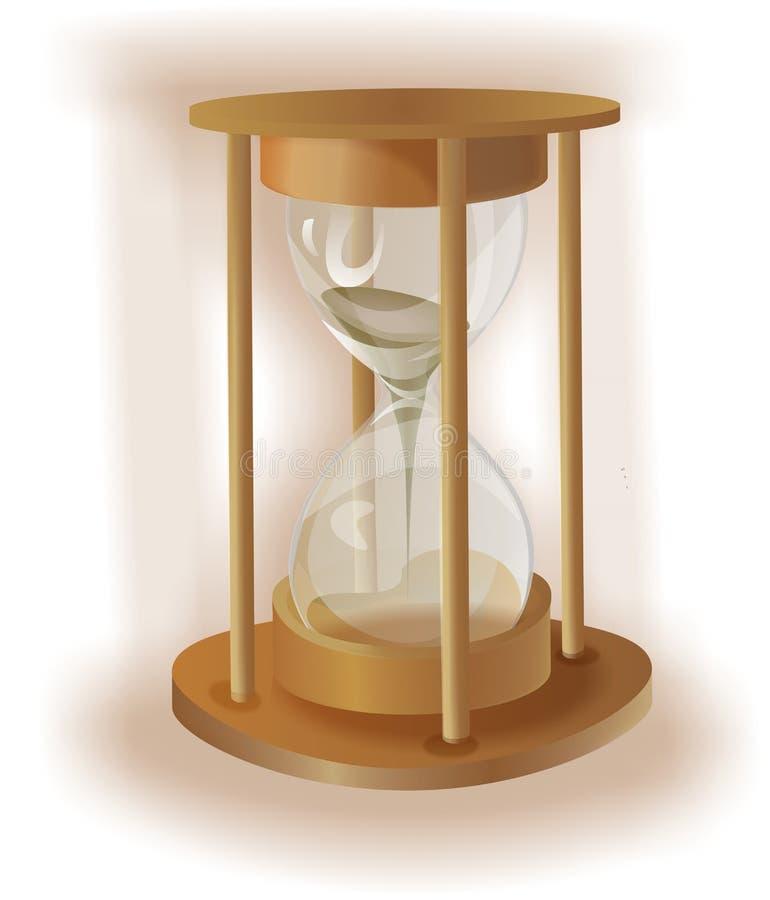 Sabbia-vetro di legno fotografia stock libera da diritti