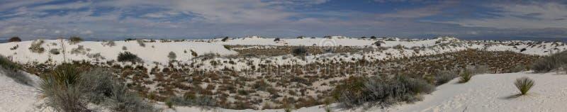 Sabbie bianche nel New Mexico immagine stock libera da diritti