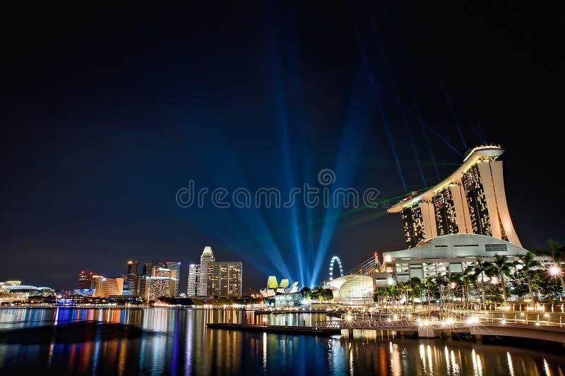 Sabbie della baia del porticciolo di Singapore immagine stock