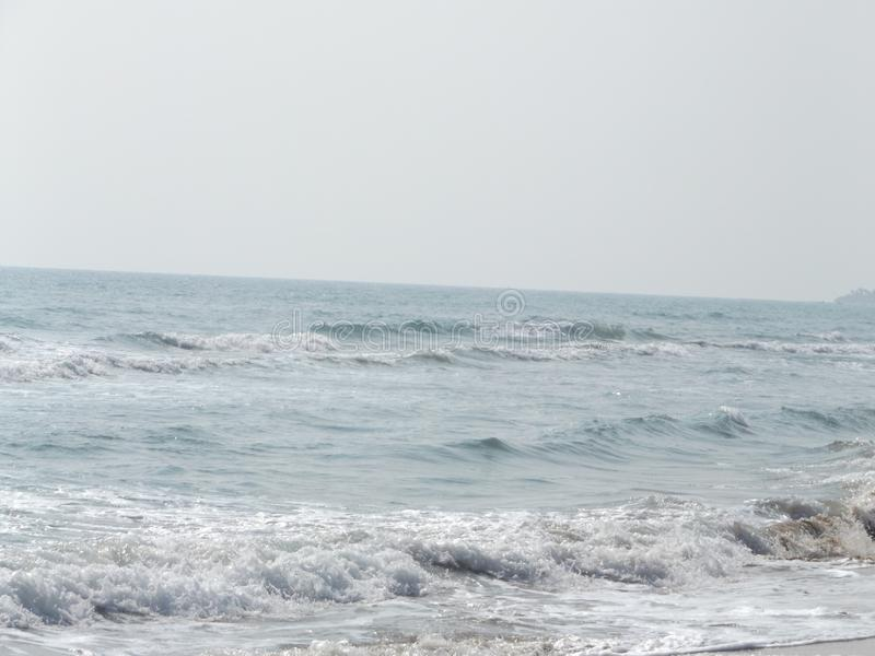 Sabbie, spiaggia e Sun caldo immagine stock libera da diritti