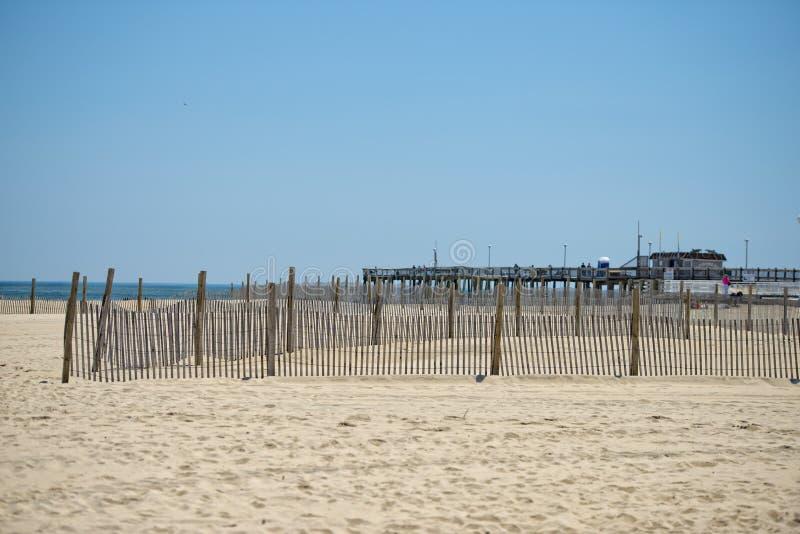 Sabdy plaża oceanu miasto Maryland zdjęcia stock