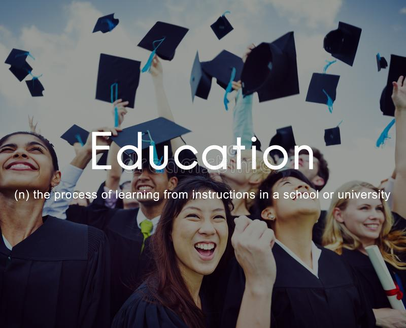 Sabedoria do conhecimento da educação que aprende estudando o conceito fotografia de stock royalty free