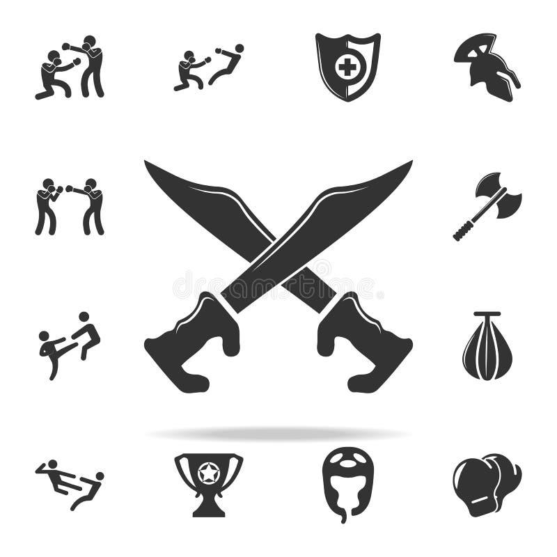 Sabelspictogram Reeks Cfight en sparring elementenpictogrammen Het grafische ontwerp van de premiekwaliteit Tekens en symboleninz vector illustratie