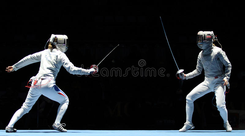 Saber World Fencing Tournament stock photography
