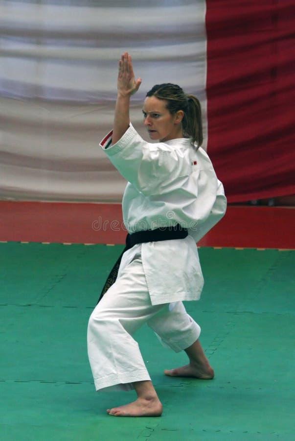 Sabina Varsallona - Karate World Champion stock image