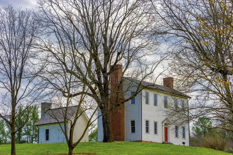 Sabine Hill Tennessee State Historical Site. Elizabethton,Tennessee,USA - April 2, 2019: Brigadier Gen. Nathaniel Taylor`s house built around 1818 royalty free stock image