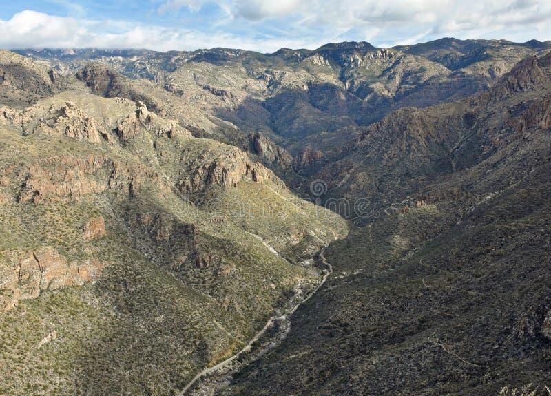 Sabino Canyon in Tucson, Arizona. stock photos