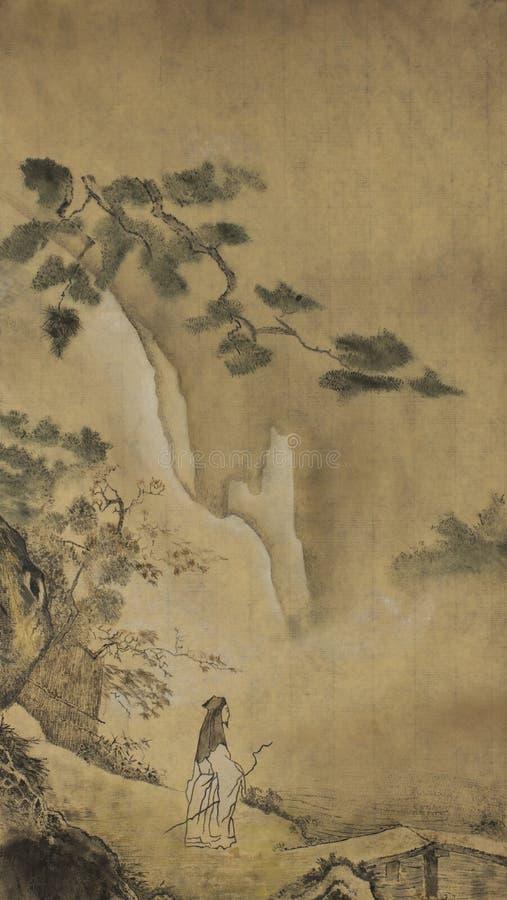 Sabio del Taoist en las montañas imagenes de archivo
